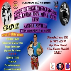 stage muay thai 100% ladies